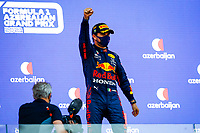 Podium, PEREZ Sergio (mex), Red Bull Racing Honda RB16B, portrait during the Formula 1 Azerbaijan Grand Prix 2021 from June 04 to 06, 2021 on the Baku City Circuit, in Baku, Azerbaijan -<br /> FORMULA 1 : Grand Prix Azerbaijan <br /> 06/06/2021 <br /> Photo DPPI/Panoramic/Insidefoto <br /> ITALY ONLY