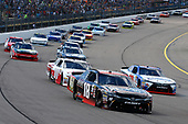 NASCAR XFINITY Series<br /> U.S. Cellular 250<br /> Iowa Speedway, Newton, IA USA<br /> Saturday 29 July 2017<br /> Kyle Benjamin, Reser's Toyota Camry, Ryan Preece, MoHawk Northeast Inc. Toyota Camry and Cole Custer, Haas Automation Ford Mustang<br /> World Copyright: Russell LaBounty<br /> LAT Images