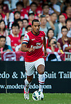 Theo Walcott of Arsenal FC in action during the pre-season Asian Tour friendly match against Kitchee FC at the Hong Kong Stadium on July 29, 2012. Photo by Victor Fraile / The Power of Sport Images
