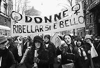 - Milano 1976, manifestazione femminista per i diritti delle donne ed in difesa della legge sull'aborto<br /> <br /> - Milan 1976, feminist demonstration for women's rights and in defense of the abortion law