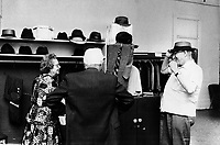 Undated file photo from the 1970's -  Montreal. Quebec , Canada  - Hat store