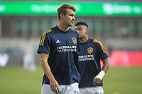 SAN JOSE, CA - SEPTEMBER 13: Nick DePuy  #20 of the L.A. Galaxy during warm ups during a game between Los Angeles Galaxy and San Jose Earthquakes at Earthquakes Stadium on September 13, 2020 in San Jose, California.