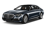 2021 Mercedes Benz S-Class - 4 Door Sedan Angular Front automotive stock photos of front three quarter view