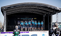 team Astana - Premier Tech at the race start/team presentation<br /> <br /> 76th Dwars door Vlaanderen 2021 (MEN1.UWT)<br /> 1 day race from Roeselare to Waregem (184km)<br /> <br /> ©kramon
