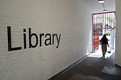 Entrance to Westminster Council's Church Street Library in Marylebone, London