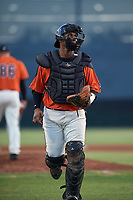 AZL Giants Orange catcher Rodolfo Bone (5) during a game against the AZL Angels at Giants Baseball Complex on June 17, 2019 in Scottsdale, Arizona. AZL Giants Orange defeated AZL Angels 8-4. (Zachary Lucy/Four Seam Images)
