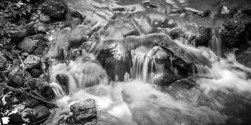 A small cascade located in the Pheasant Branch Conservancy in Middleton, Wisconsin