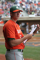Enrique Garcia of the Miami Hurricanes vs. the Virginia Cavaliers: March 24th, 2007 at Davenport Field in Charlottesville, VA.  Photo by:  Mike Janes/Four Seam Images