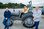Paudie Fitzmaurice Tractor Run in Castleisland on Sunday, l to r: Shane Fleming (Killcummin), Mary Fitzmaurice (sitting on a Ferguson 20) and John Casey (Castleisland).
