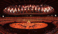 210723 -- TOKYO, July 23, 2021 -- Fireworks explode over the Olympic Stadium during the opening ceremony of Tokyo 2020 Olympic Games, Olympische Spiele, Olympia, OS in Tokyo, Japan, July 23, 2021.  TOKYO2020XHTP-JAPAN-TOKYO-OLY-OPENING CEREMONY LuixSiuxWai PUBLICATIONxNOTxINxCHN <br /> 23/07/2021 <br /> Open Ceremony <br /> Photo XINHUA / Imago  / Insidefoto ITALY ONLY