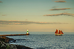 Red Schooner Hjordis out on an outing in Grand Marais, MN.