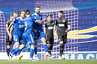 Gwion Edwards of Ipswich Town celebrates his goal which doubled the lead during Ipswich Town vs Wigan Athletic, Sky Bet EFL League 1 Football at Portman Road on 13th September 2020