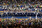 Sept. 20, 2013; Pep Rally before the Michigan State game.<br /> <br /> Photo by Matt Cashore/University of Notre Dame