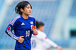 Japan plays against Uzbekistan during the AFC U-16 Women's Championship China 2015 Group B match at the  Xinhua Road Stadium on 05 November 2015 in Wuhan, China. Photo by Aitor Alcalde / Power Sport Images