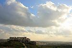 Israel, Sharon region. Ruins of Migdal Afek (Migdal Tzedek) at Mirabel National Park
