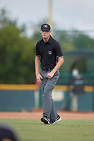 Umpire Justin Widdon during an Instructional League game between the Detroit Tigers and Pittsburgh Pirates on October 6, 2017 at Pirate City in Bradenton, Florida.  (Mike Janes/Four Seam Images)