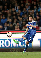 Calcio, Serie A: Napoli, stadio San Paolo, 2 aprile, 2017.<br /> Juventus Miralem Pjanic in action during the Italian Serie A football match between Napoli and Juventus ... at San Paolo stadium, April 2, 2017<br /> UPDATE IMAGES PRESS/Isabella Bonotto