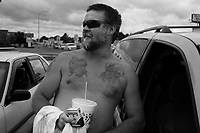 Florence, AL, USA , May 9th 2009.Traditional southern identity: a klansman after a rally.