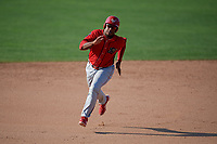 Williamsport Crosscutters designated hitter Luis Encarnacion (13) runs the bases during the second game of a doubleheader against the Batavia Muckdogs on August 20, 2017 at Dwyer Stadium in Batavia, New York.  Batavia defeated Williamsport 4-3.  (Mike Janes/Four Seam Images)