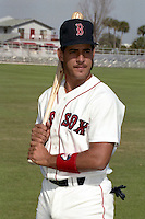Boston Red Sox Pedro Matilla during spring training circa 1990 at Chain of Lakes Park in Winter Haven, Florida.  (MJA/Four Seam Images)