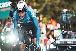 Enric Mas (ESP) Movistar Team in action during Stage 1 of La Vuelta d'Espana 2021, a 7.1km individual time trial around Burgos, Spain. 14th August 2021.    <br /> Picture: Unipublic/Charly Lopez | Cyclefile<br /> <br /> All photos usage must carry mandatory copyright credit (© Cyclefile | Unipublic/Charly Lopez)