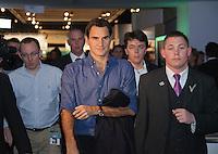 11-02-13, Tennis, Rotterdam, ABNAMROWTT, Signing Roger Federer