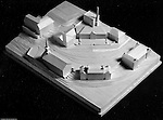 Pittsburgh PA:  View of a wooden model of the proposed changes to the Pennsylvania College for Women's campus, now Chatham University.  Ingham, Boyd, and Pratt Architect's various designs were submitted from 1948 through 1952 with construction starting in 1953. Pennsylvania College for Women was renamed Chatham College in 1955.