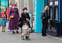 Members of the public wearing protective facemasks as they shop in Central London today as further lockdown measures are proposed for the capital later this week. The UK government is preparing for a possible second nationwide lockdown to fight the spread of COVID-19. London on September 23rd 2020<br /> <br /> Photo by Keith Mayhew