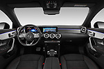 Stock photo of straight dashboard view of a 2020 Mercedes Benz CLA AMG-Line 4 Door Sedan