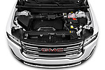 Car Stock 2020 GMC Acadia SLE 5 Door SUV Engine  high angle detail view
