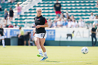 CARY, NC - SEPTEMBER 12: Lindsey Horan #10 of the Portland Thorns warms up before a game between Portland Thorns FC and North Carolina Courage at WakeMed Soccer Park on September 12, 2021 in Cary, North Carolina.