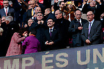 FC Barcelona's president Josep Bartomeu during La Liga match between FC Barcelona and Real Madrid at Camp Nou Stadium in Barcelona, Spain. October 28, 2018. (ALTERPHOTOS/A. Perez Meca)
