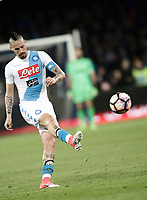 Calcio, Serie A: Napoli, stadio San Paolo, 2 aprile, 2017.<br /> Napoli's Marek Hamsik in action during the Italian Serie A football match between Napoli and Juventus at San Paolo stadium, April 2, 2017<br /> UPDATE IMAGES PRESS/Isabella Bonotto