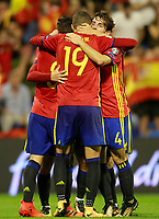 Spain's Koke Resurreccion, Isco Alarcon and Alvaro Odriozola celebrate goal during FIFA World Cup 2018 Qualifying Round match. October 6,2017.(ALTERPHOTOS/Acero) /NortePhoto.com /NortePhoto.com