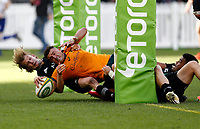 5th September 2021; Optus Stadium, Perth, Australia: Bledisloe Cup international rugby, Australia versus New Zealand; Tom Banks of the Australian Wallabies scores a try under the posts during the second half