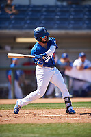 Rancho Cucamonga Quakes Jacob Amaya (25) at bat during a California League game against the Inland Empire 66ers at LoanMart Field on September 2, 2019 in Rancho Cucamonga, California. Rancho Cucamonga defeated Inland Empire 4-3. (Zachary Lucy/Four Seam Images)