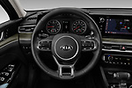 Car pictures of steering wheel view of a 2021 KIA K5 EX 4 Door Sedan Steering Wheel