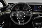 Steering wheel view of a 2021 KIA K5 EX 4 Door Sedan