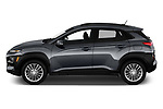 Car driver side profile view of a 2019 Hyundai Kona SEL AUTO 5 Door SUV
