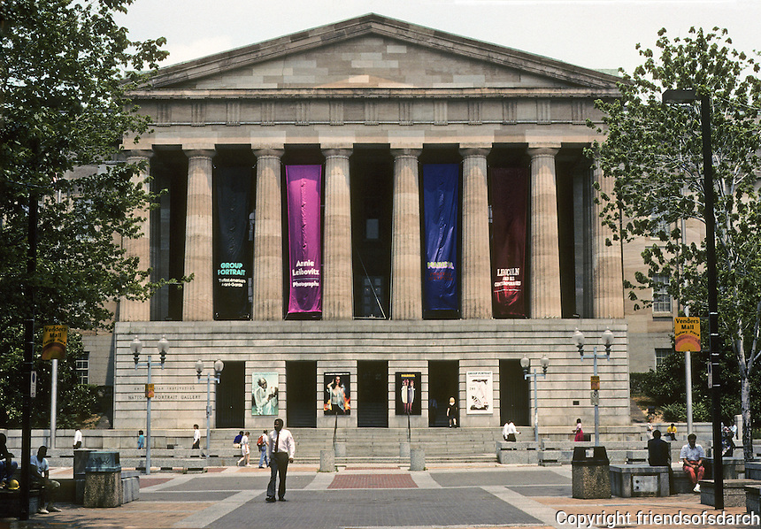 Washington D.C. : The National Portrait Gallery--a Doric Temple. Photo '91.