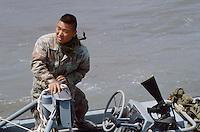 - men of US Navy special unit Seals at cape Teulada (Sardinia) for a NATO exercise....- uomini del reparto speciale della marina USA Seals a Capo Teulada (Sardegna) per una esercitazione NATO