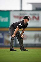 Umpire Thomas Roche during an Eastern League game between the Binghamton Rumble Ponies and Richmond Flying Squirrels on May 29, 2019 at The Diamond in Richmond, Virginia.  Binghamton defeated Richmond 9-5 in ten innings.  (Mike Janes/Four Seam Images)