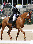 April 24, 2014: The Alchemyst and Debbie Rosen compete in Dressage at the Rolex Three Day Event in Lexington, KY at the Kentucky Horse Park.  Candice Chavez/ESW/CSM