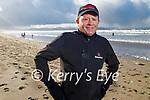 Austin Fitzmaurice enjoying a stroll in Banna beach on Sunday.
