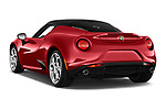 Car pictures of rear three quarter view of 2017 Alfaromeo 4C - 2 Door Coupe Angular Rear