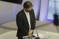 Campinas (SP), 01/10/2020 - Eleicoes/Debate - Nove candidatos a prefeito de Campinas (SP) se enfrentam nesta quinta-feira (01) no primeiro debate promovido pela Band. Alessandra Ribeiro (PCdoB), Andre Von Zuben (Cidadania), Artur Orsi (PSD), Dario Saadi (Republicanos), Delegada Teresinha (PTB), Dr. Helio (PDT), Rafa Zimbaldi (PL), Pedro Tourinho (PT) e Wilson Matos (Patriota) irao apresentar suas propostas e serao confrontados pelos seus adversarios. Esse grupo integra os partidos que tem cinco representantes no Congresso Nacional.<br />Na foto: Pedro Tourinho - PT (Foto: Denny Cesare/Codigo 19/Codigo 19)