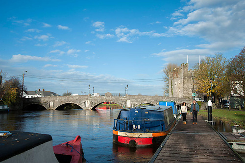 The River Barrow running through Athy in Co Kildare