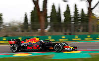 1st November 2020, Imola, Italy; FIA Formula 1 Grand Prix Emilia Romagna, Race Day; 33 Max Verstappen NLD, Aston Martin Red Bull Racing before a puncture put him out of the race