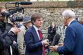 BBC political editor Nick Watt interviews Vince Cable MP on College Green, Westminster, London, on the day of four ministerial resignations over Brexit deal.