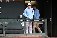 CHAPEL HILL, NC - FEBRUARY 19: Head coach Mike Fox #30 of the University of North Carolina during a game between High Point and North Carolina at Boshamer Stadium on February 19, 2020 in Chapel Hill, North Carolina.